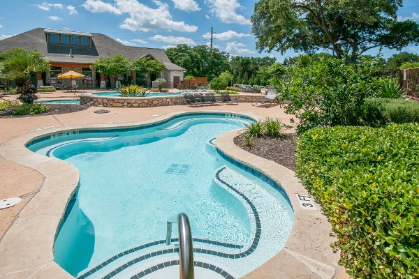 Beautiful pool at The Cottages in Austin, TX