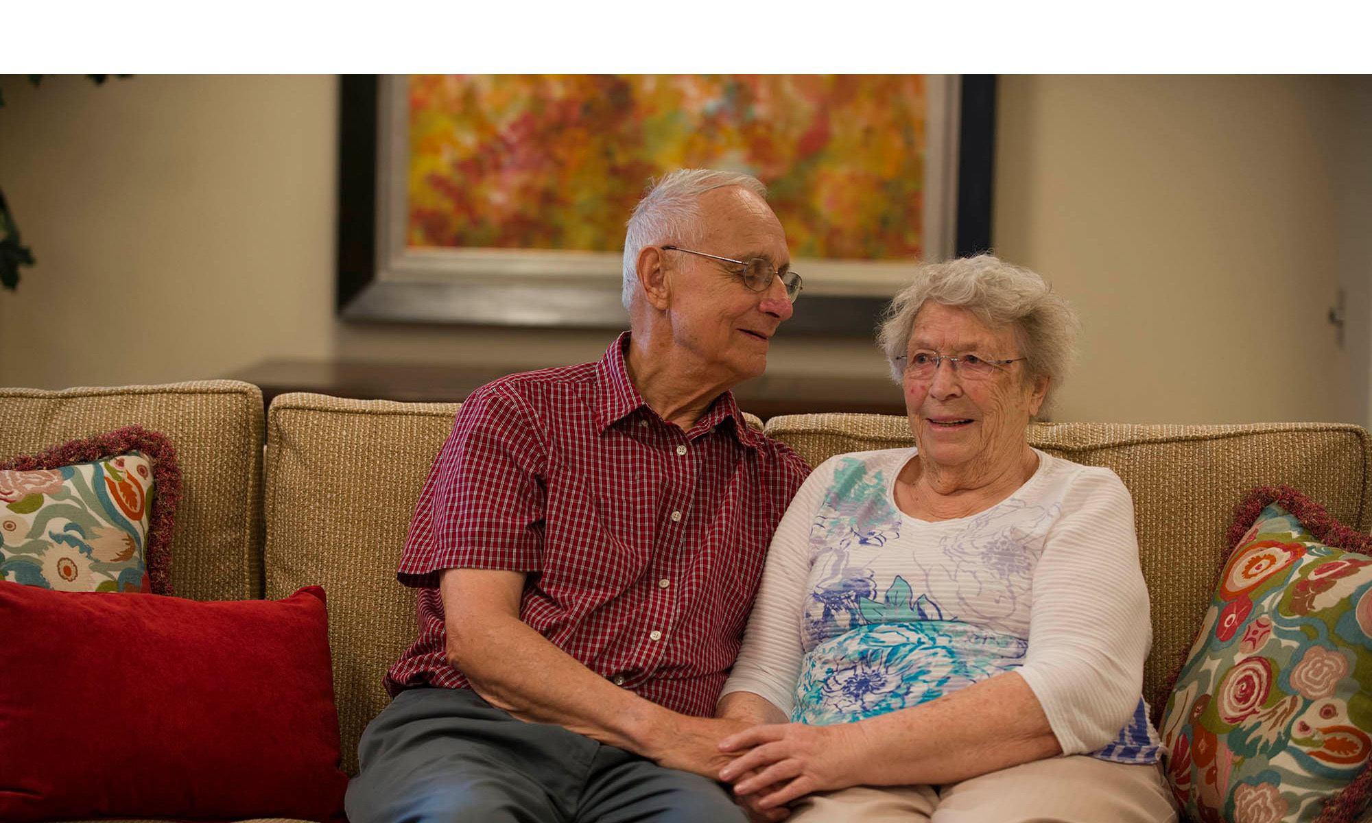 Couple at senior living facility in Toronto ON