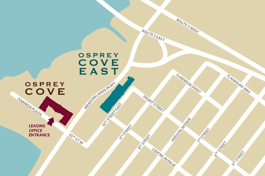 Map of Osprey Cove Apartments Secaucus New Jersey