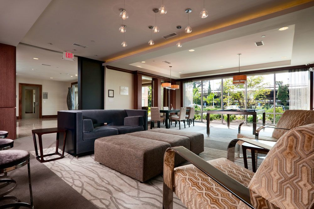 Sleek And Modern Furnishings In Our Resident Clubhouse