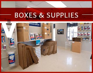 Boxes & Supplies at Virginia Varsity Self Storage