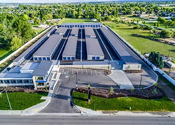 Aerial view at Keylock Storage in Meridian
