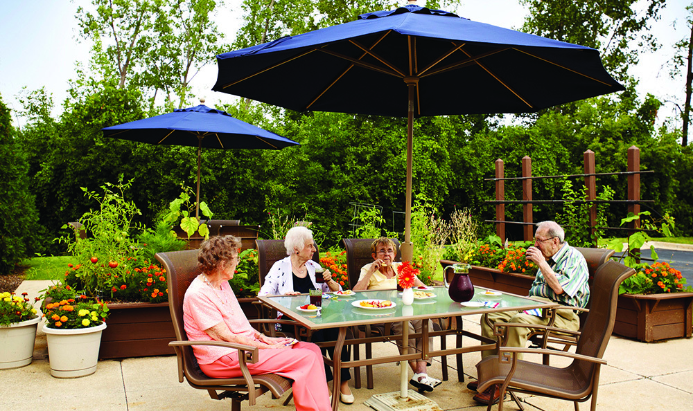 Relax On The Patio At Senior Living in Petoskey, MI