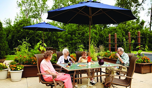 Relax On The Patio At Senior Living In Estero, FL