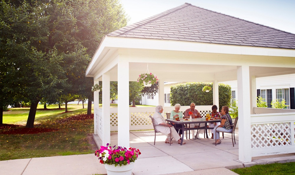 Relax On The Patio At Senior Living In Dearborn Heights MI