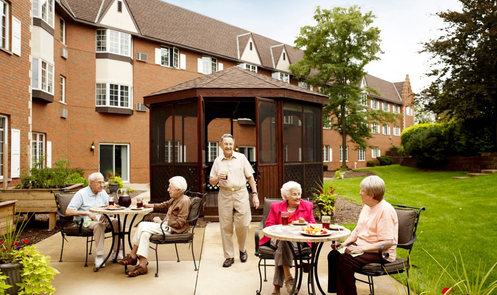 Relax On The Patio At Senior Living In Roseville MI