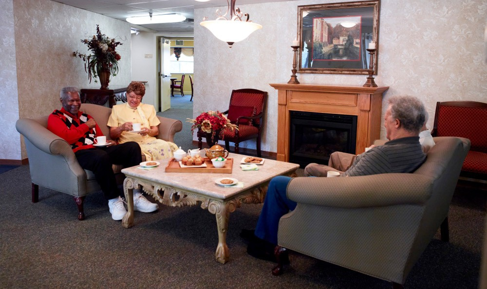 Relax by the Fire At Senior Living In Grand Blanc MI