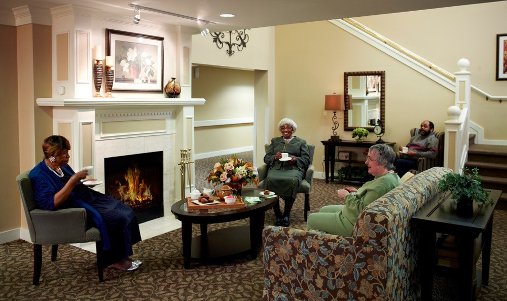 Relax by the Fire At Senior Living in Hazel Park, MI