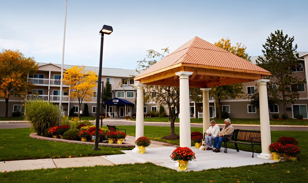 Relax in The Gazebo At Senior Living in Clinton Township, MI