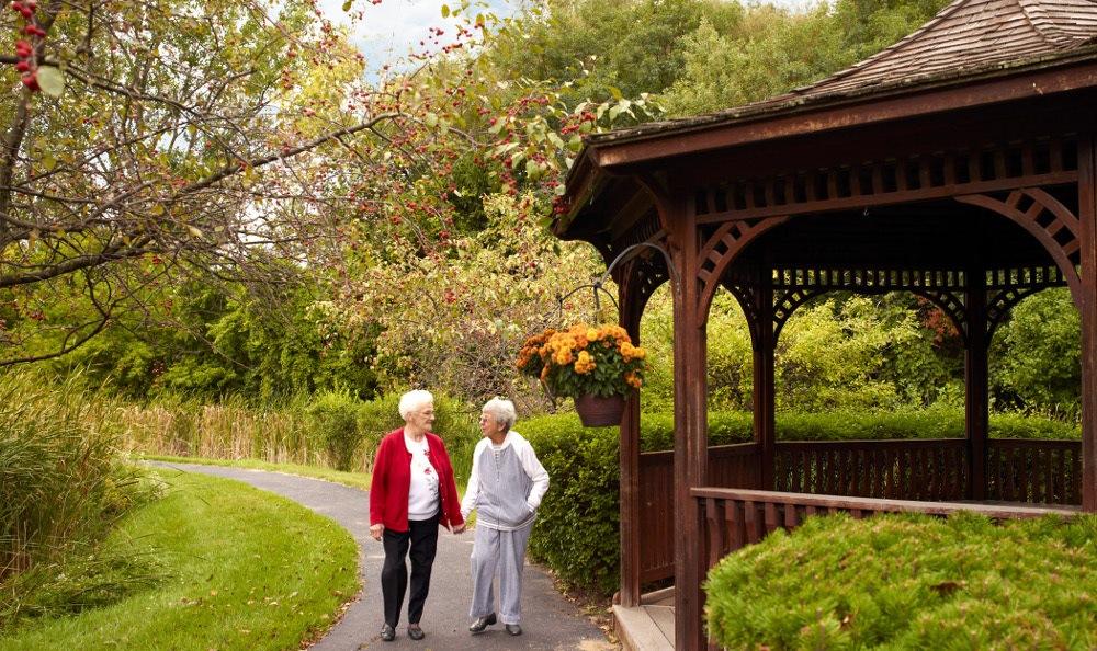 Relax In The Gazebo At Senior Living in Pontiac, MI