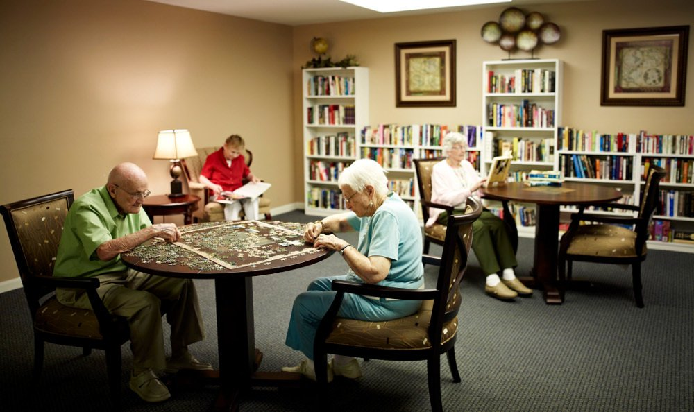 Activities Room At Senior Living in Riverview, MI