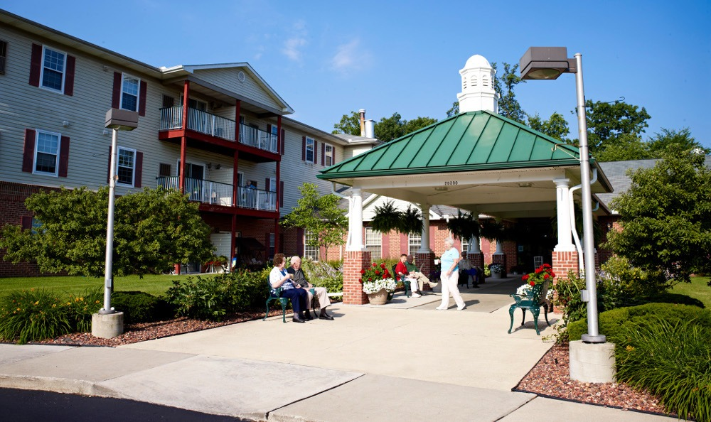 Exterior Of Senior Living In Riverview, MI