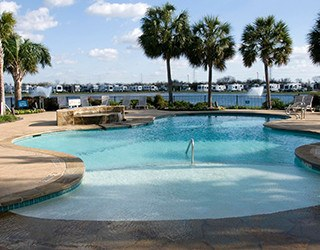 Safe pool area at the rv resorts in Houston