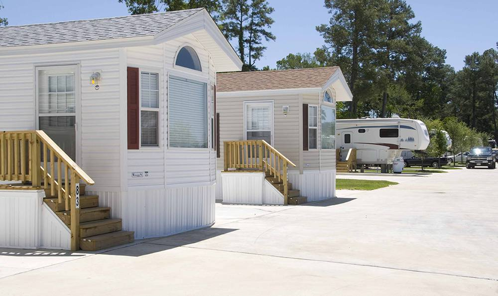 Fixed Trailers at the Rv Resort in Houston