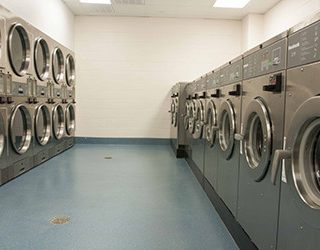 Laundry facility at the RV resort in Houston