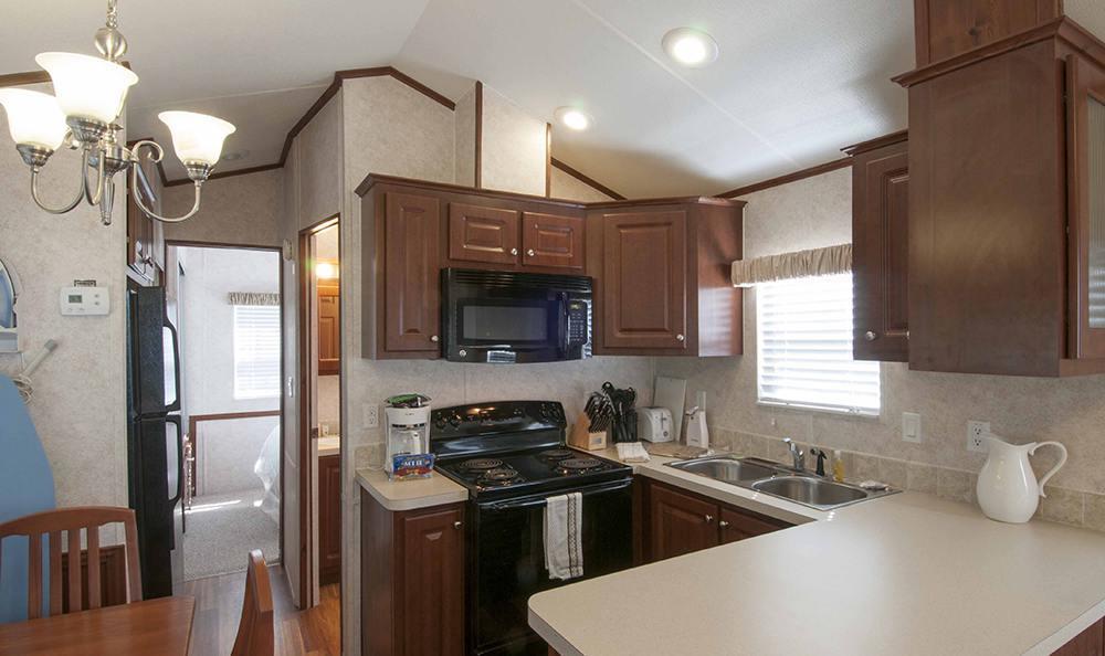 Modern Kitchen at the Rv Resort in Houston
