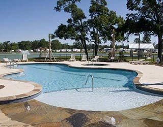 Sparkling swimming pool at Westlake RV Resort