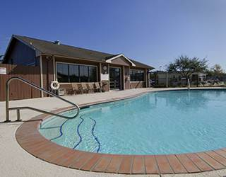 Pool Area at the Rv Resort in Houston