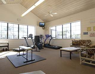Weight Room at the Rv Resort in Houston