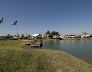 Fishing Pond at the Rv Resorts in Houston