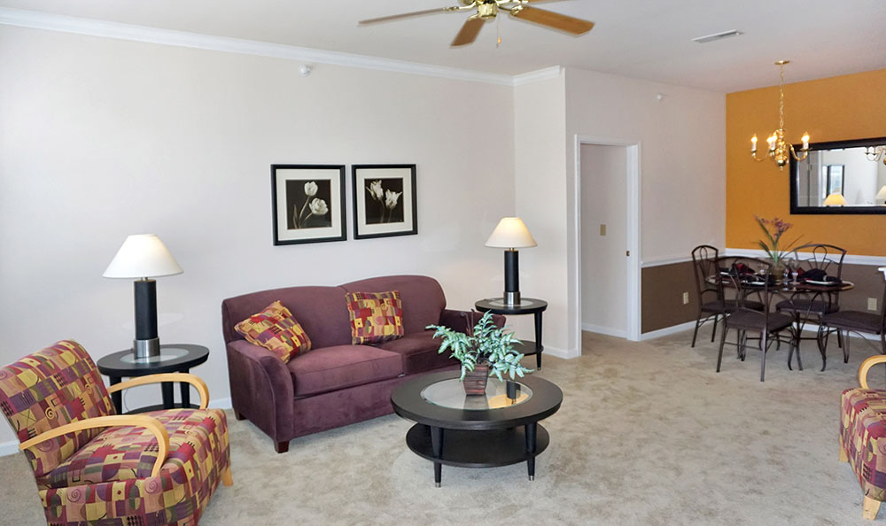 Charleston Pines Apartment Homes Open Living Room