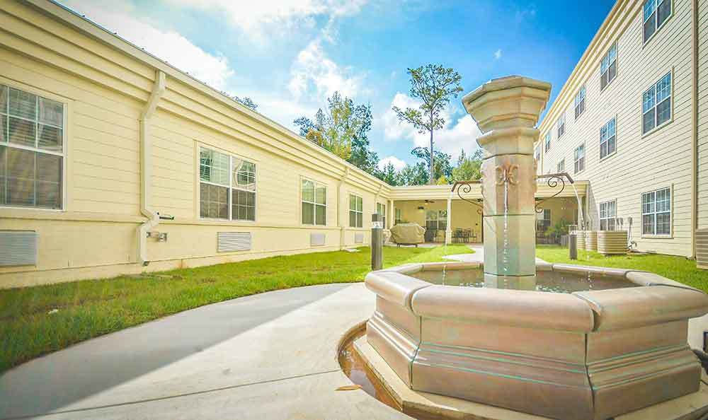 Fountain At Our Senior Living Home In Covington