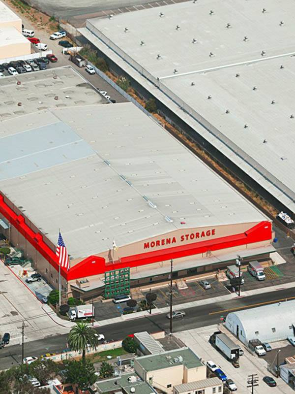 overhead airplane view of our storage facility in San Diego