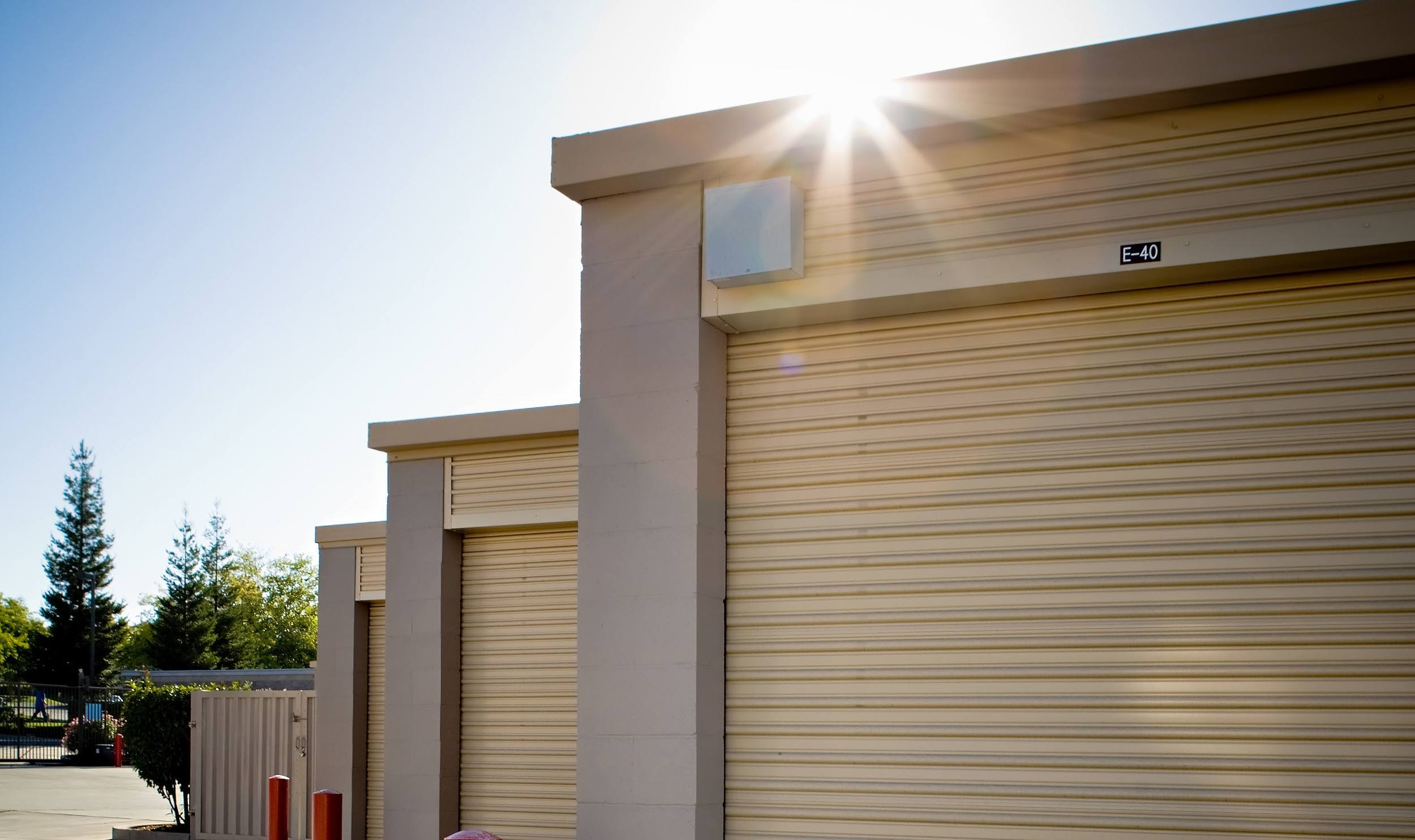 Easy access to our self storage units