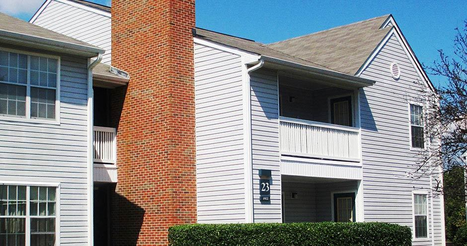 Exterior view of Paces River Apartments in Rock Hill, SC