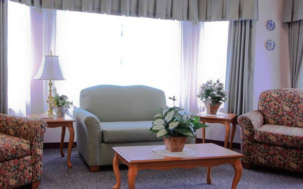 Seating area at Regency Olympia Rehabilitation and Nursing Center in Olympia