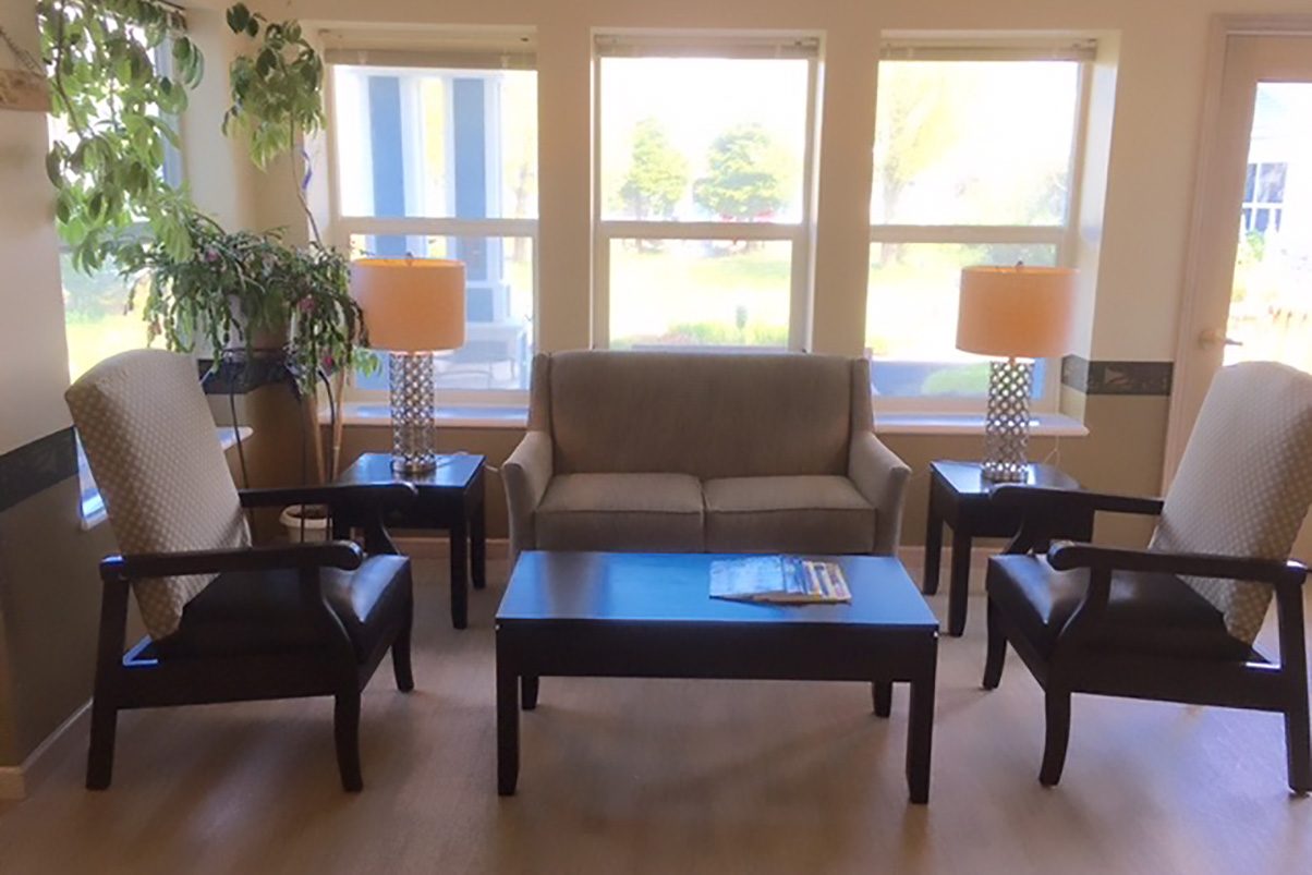 coffee table and seating