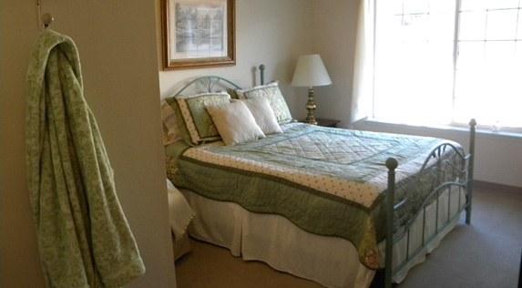 Bedroom at senior living in Oak Harbor, Washington
