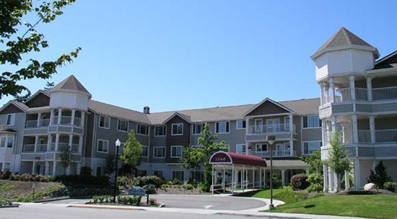 Beautiful exterior of senior living in Oak Harbor, Washington