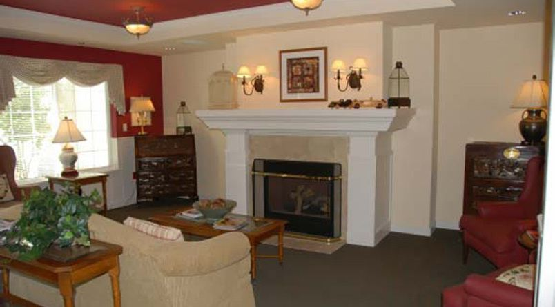 Oak Harbor, Washington senior living includes fire places