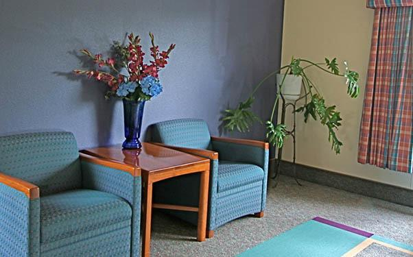 Seating area at Regency Gresham Nursing and Rehabilitation Center in OR