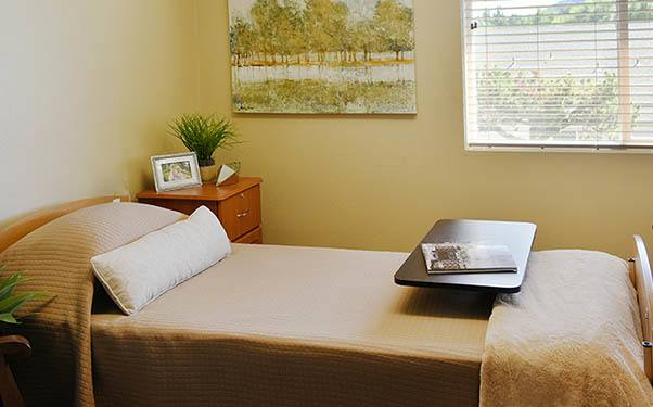 Bedroom at our senior living community in Prineville, OR