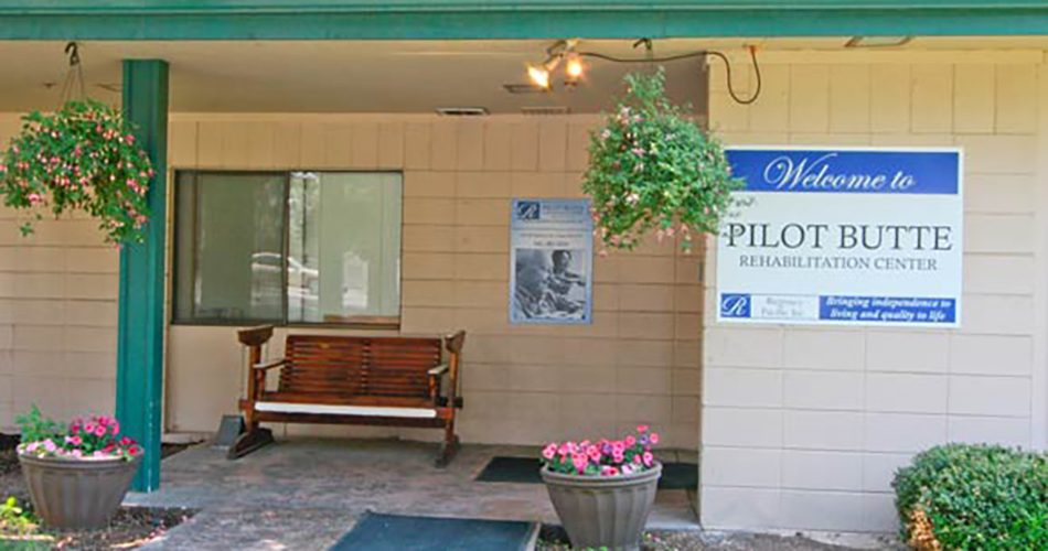 Our sign welcomes residents and their friends and family at Pilot Butte Rehabilitation Center in Bend, OR.