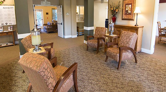 Fox Hollow Independent and Assisted Living offers communal spaces for residents to enjoy