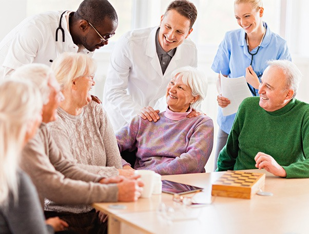 Helpful doctors at Fox Hollow Independent and Assisted Living in Bend, Oregon