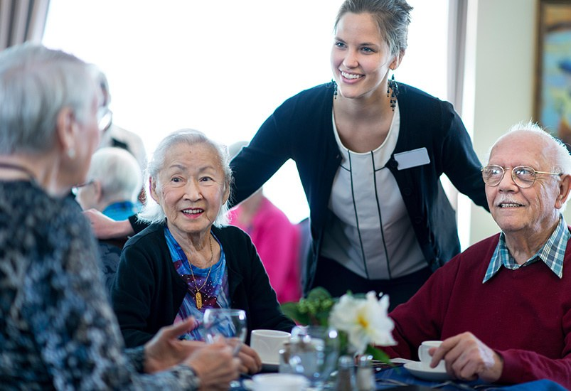 Learn more about dining at our senior living community in Ocean Park, Washington
