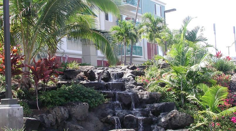 Kailua-Kona, HI senior living features a waterfall
