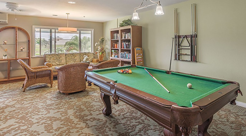 Challenge your friends and neighbors to a game of billiards at Regency at Puakea.