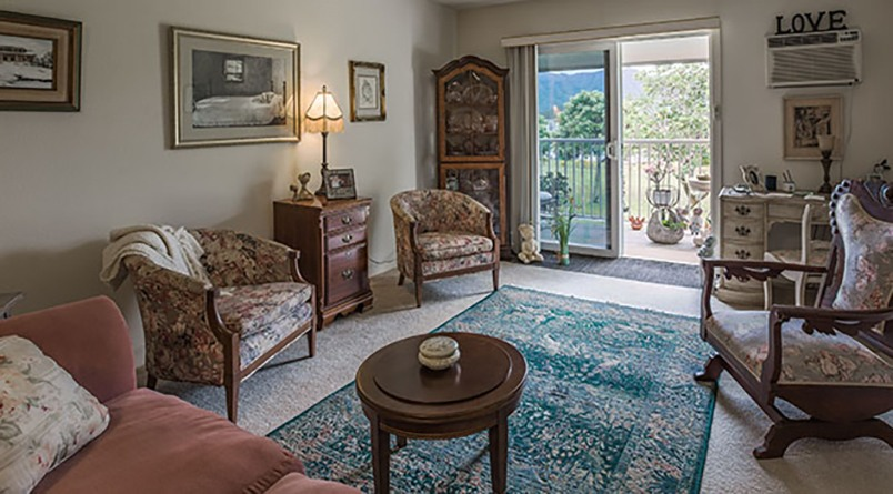 The resident apartments at Regency at Puakea in Lihue, Hawaii, are spacious.
