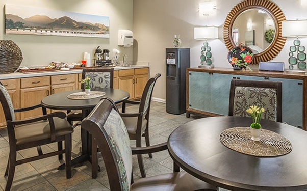 Our Lihue, Hawaii, senior living community includes an entertainment room.