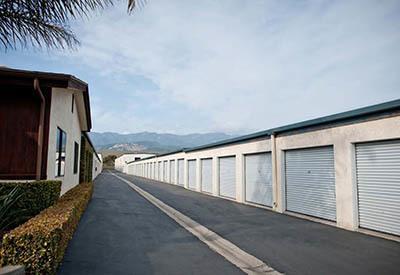 Exterior of self storage in CA