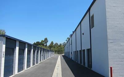 Row of outside units.