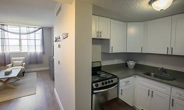 Open kitchen in Winter Haven apartments