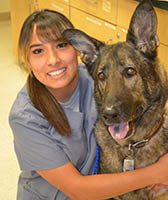 Team member Aubree at St. Francis of Assisi Veterinary Medical Center