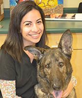 Team member Deja at St. Francis of Assisi Veterinary Medical Center