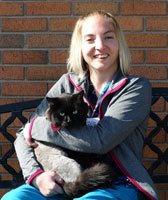 Emma Anderson, RVT at Sioux Falls Animal Hospital